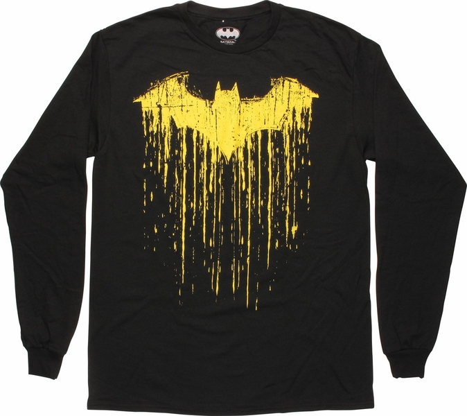 Batman bat drip logo long sleeve t shirt for Riddler t shirt with bats