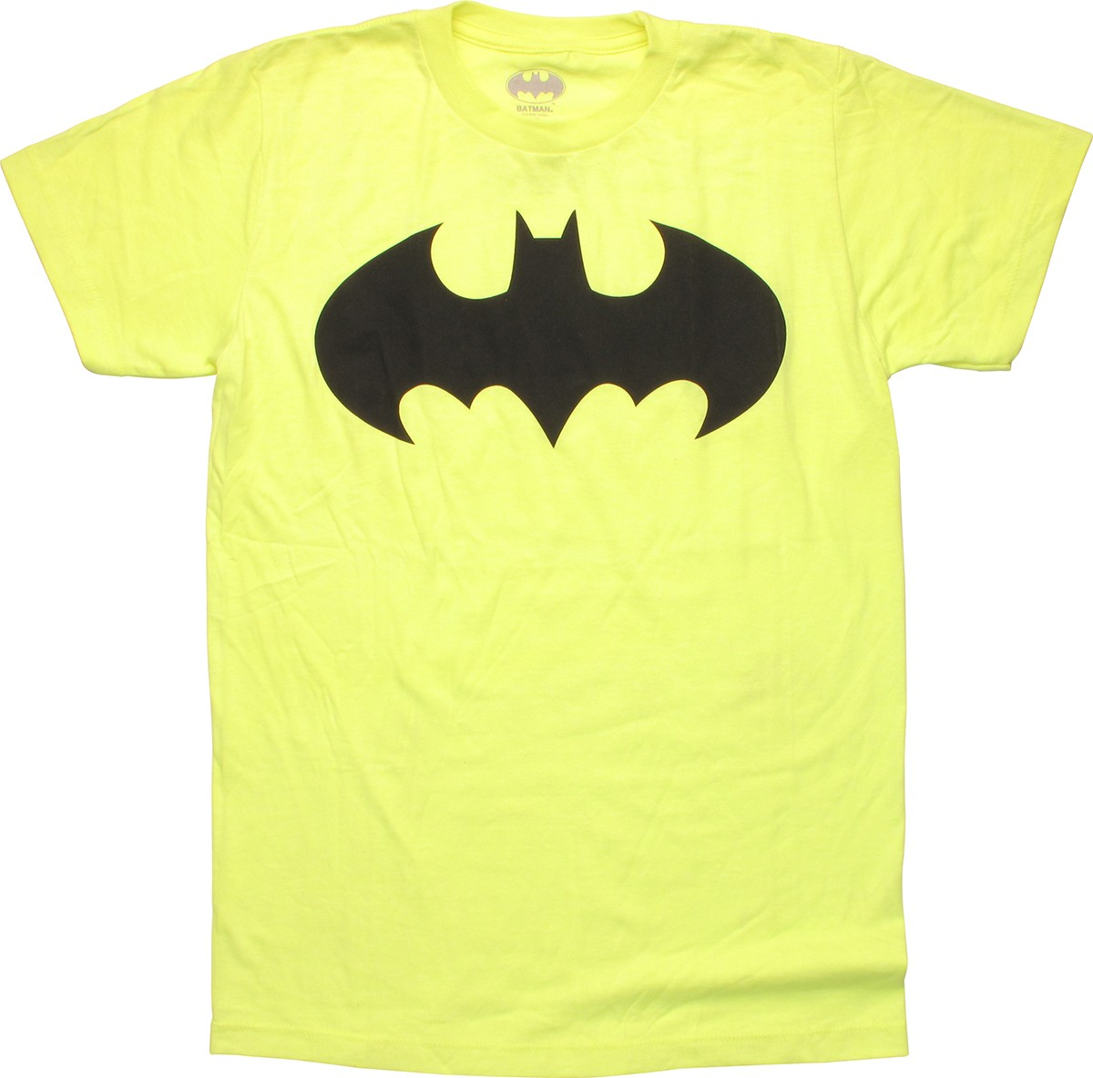 Batman Black Logo Neon Yellow T-Shirt