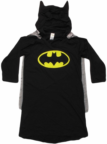 Batman Caped Hooded Junior Nightshirt Pajamas