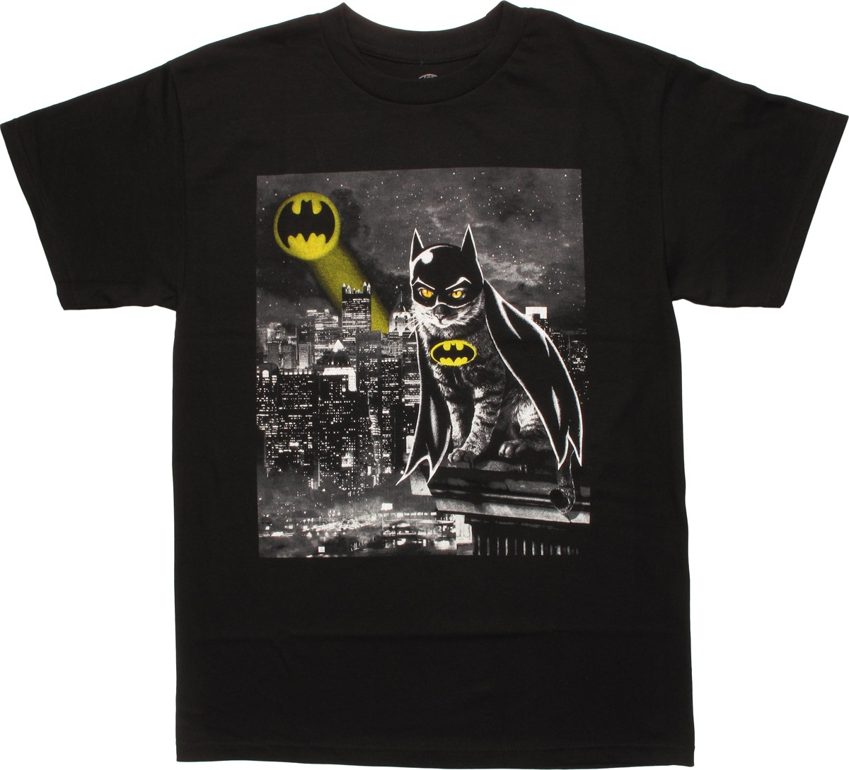 batman cat bat signal gotham t shirt. Black Bedroom Furniture Sets. Home Design Ideas