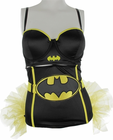 Batman Corset and Detachable Tutu Lingerie Set