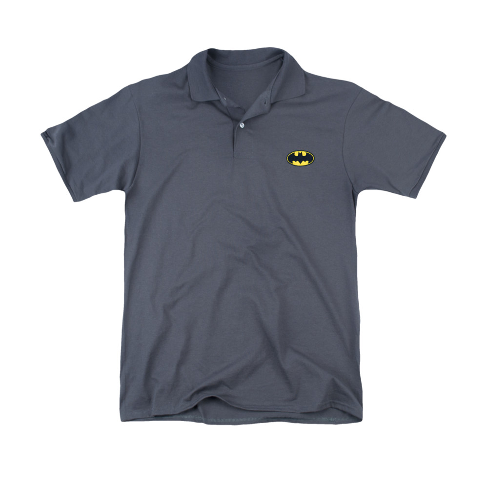 batman embroidered logo polo shirt