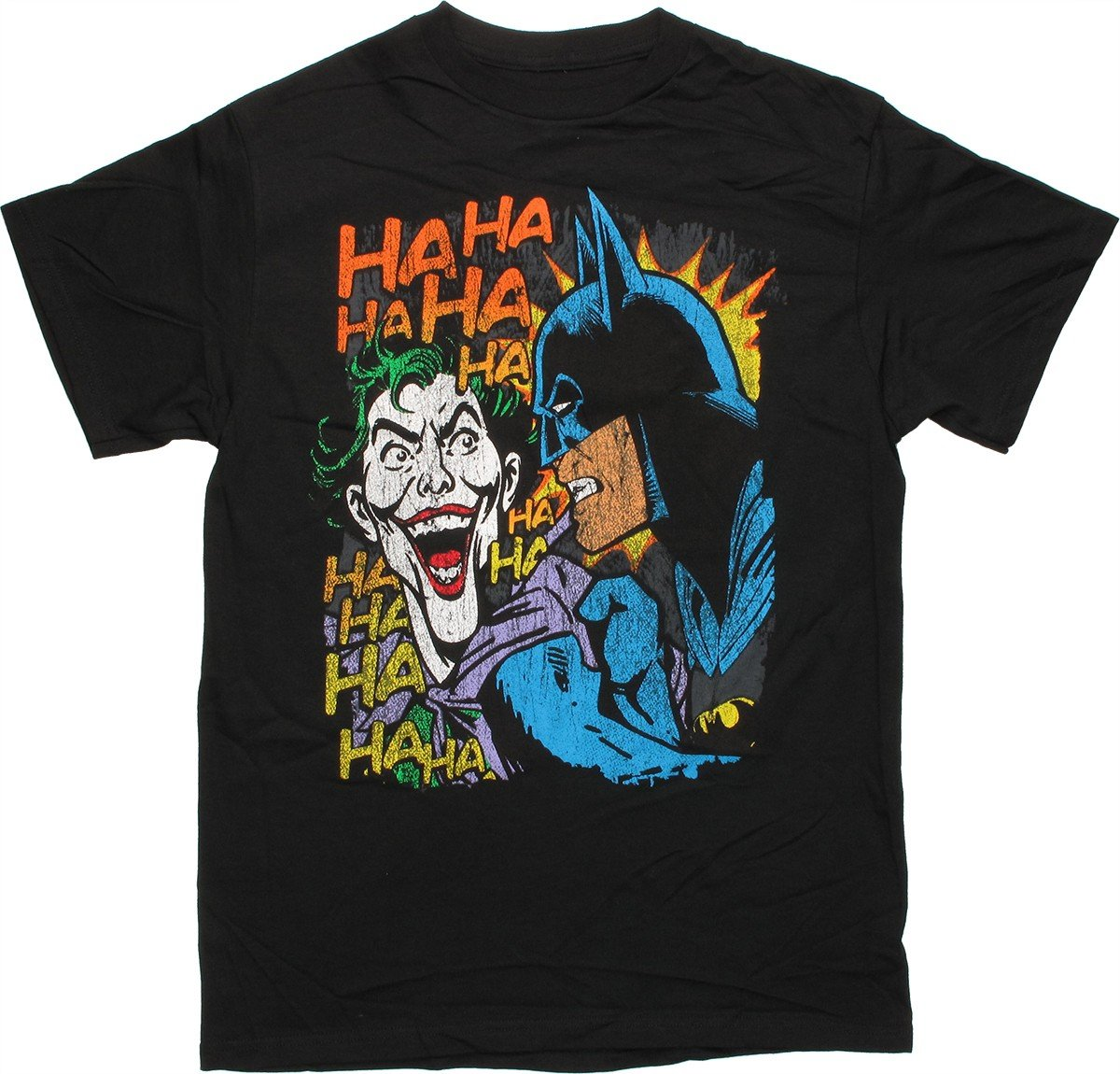 batman joker vintage laugh t shirt. Black Bedroom Furniture Sets. Home Design Ideas