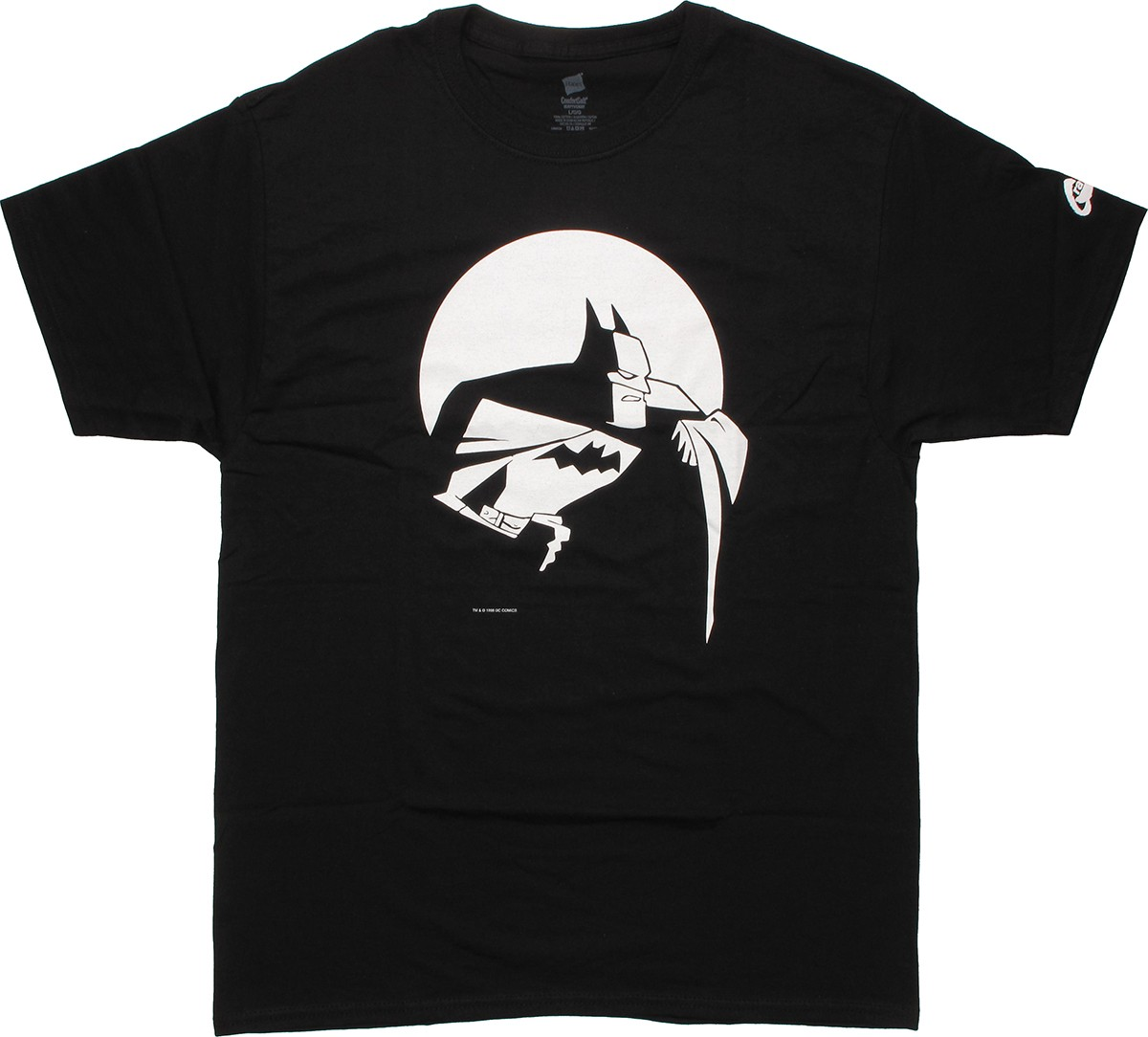 batman animated moon t shirt. Black Bedroom Furniture Sets. Home Design Ideas
