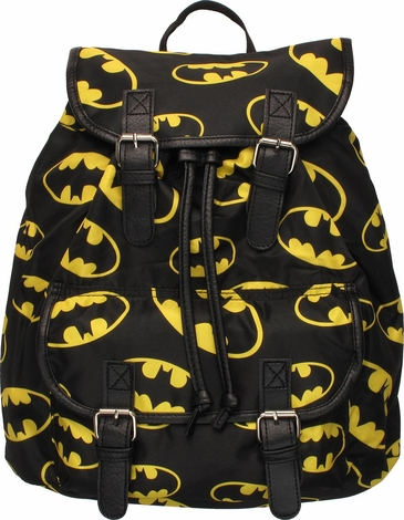 Batman Multi Logo Flap Top Backpack