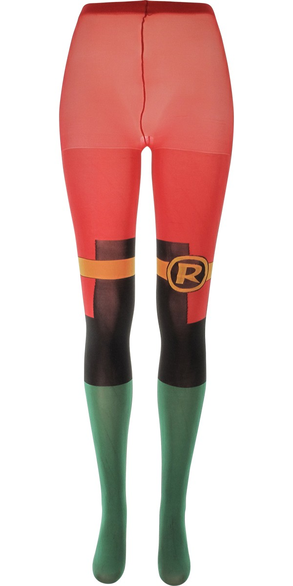 These black polyester and spandex leggings feature an all-over metallic gold Batgirl logo print and gold barb attachments on the ankles. Wear these leggings with the rest of your Batgirl or Batman costume and you'll be shining amongst the rest of your superhero buddies!