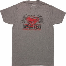 Batman v Superman Wanted Vigilante T-Shirt