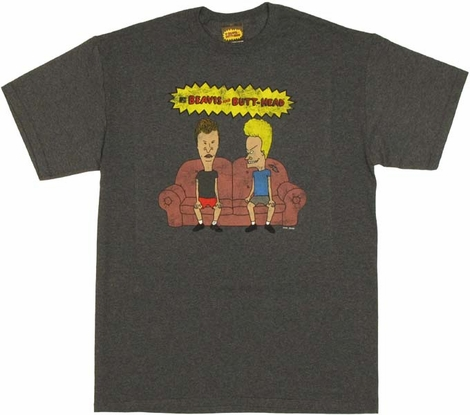 Beavis and Butthead Couch T Shirt
