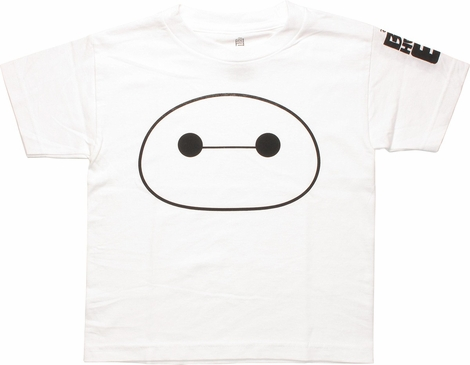 Big Hero 6 Baymax Head Juvenile T-Shirt