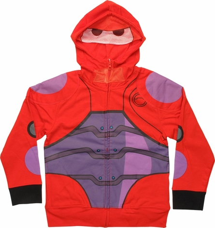 Big Hero 6 Baymax Hero Mesh Mask Juvenile Hoodie