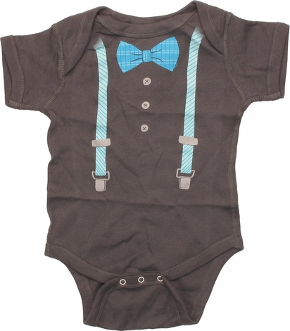 Bow Tie and Suspenders Snap Suit
