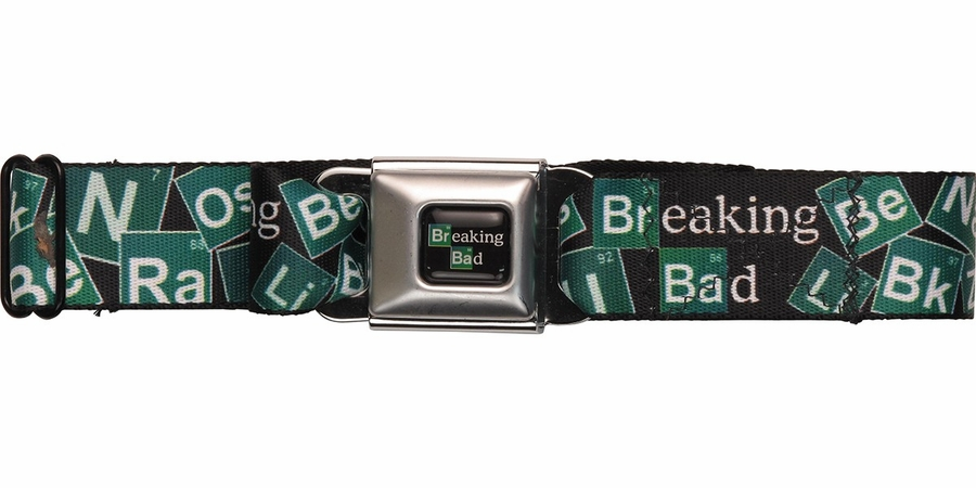 Breaking bad periodic table title logo seatbelt mesh belt for Html table title