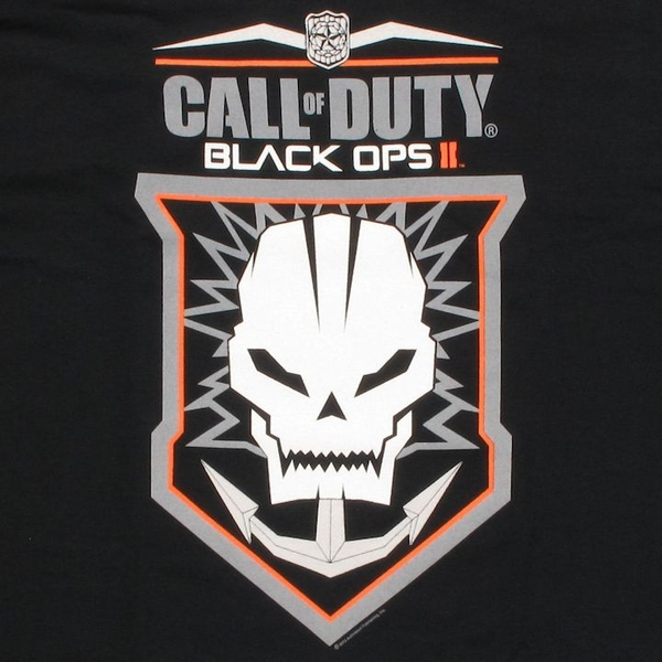 Call Of Duty Black Ops 2 Anchored Skull T Shirt