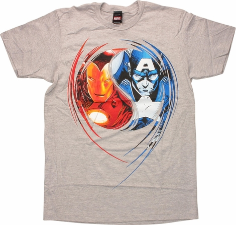 Captain America Civil War Hero vs Hero T-Shirt
