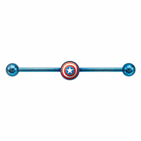 Captain America Industrial Barbell