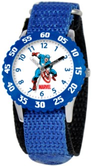 Captain America Kids Time Teacher Blue Watch