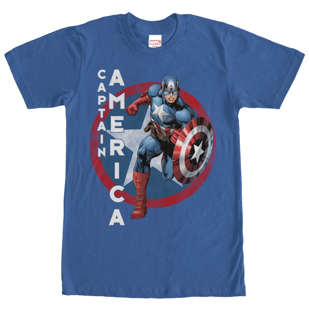 captain america logo shield pose t shirt. Black Bedroom Furniture Sets. Home Design Ideas