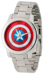 Captain America Mens Alloy Case Silver Watch