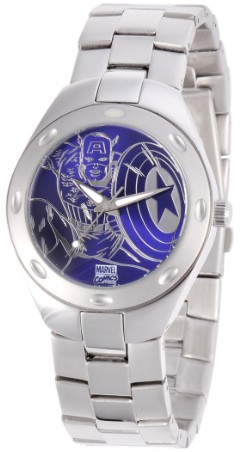 Captain America Mens Fortaleza Silver Watch