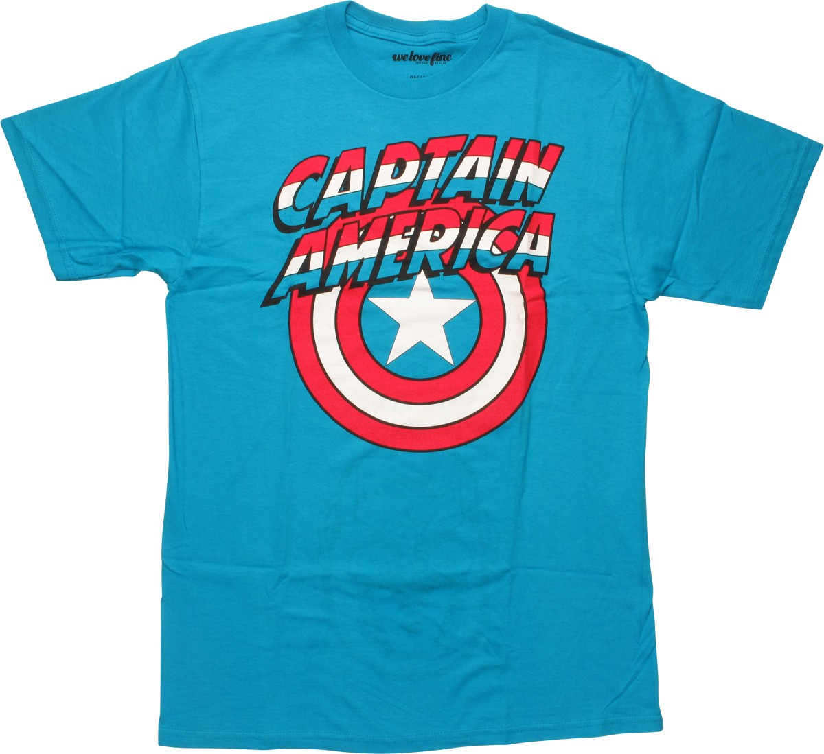 Captain America Name Logo Inside Print T Shirt