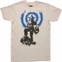 Captain America Pose Splatter Paint T-Shirt Sheer