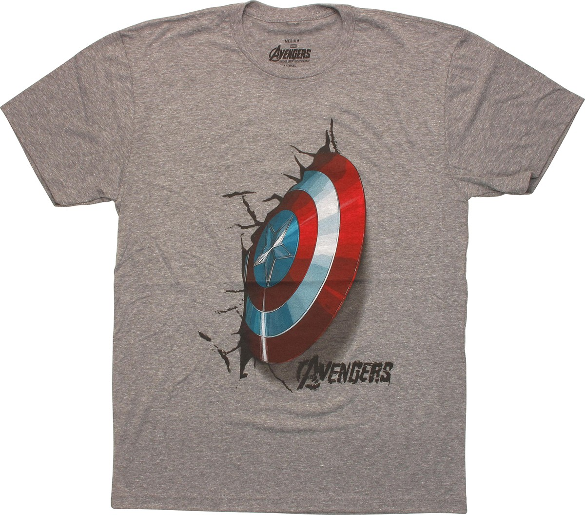 captain america shield crash t shirt sheer. Black Bedroom Furniture Sets. Home Design Ideas