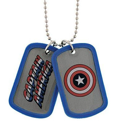 Captain America Shield Name Dog Tags