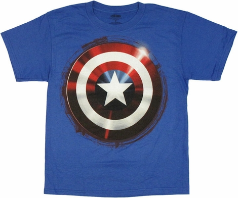 Captain America Shield Youth T Shirt