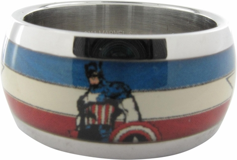 Captain America Stars and Stripes Ring