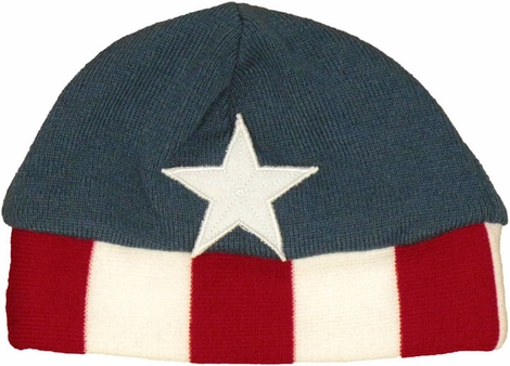 Captain America Stripes Youth Beanie