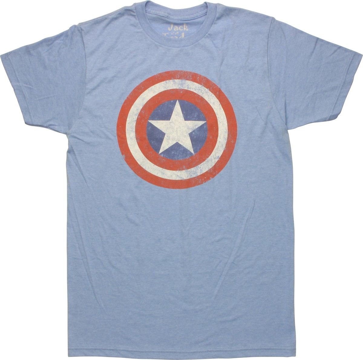 captain america vintage shield heather t shirt. Black Bedroom Furniture Sets. Home Design Ideas
