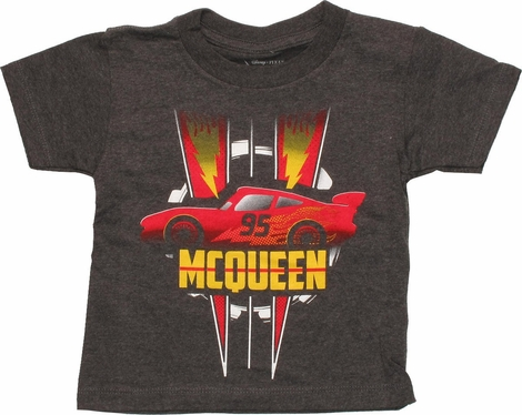 Cars 95 McQueen Lightning Bolts Toddler T-Shirt