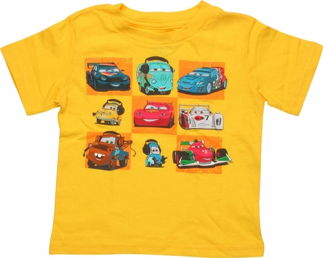 Cars Checkerboard Pattern Infant T-Shirt