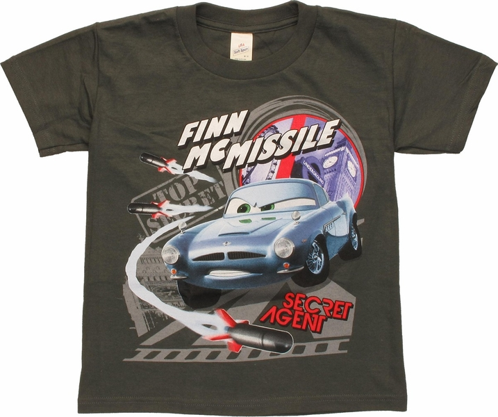 Cars 2 Spy Attack Finn Mcmissile: Cars Finn McMissile Secret Agent Youth T-Shirt