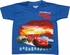 Cars Lightning McQueen 95 Blue Juvenile T-Shirt