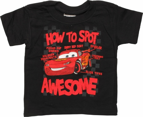 Cars McQueen How To Spot Awesome Infant T-Shirt