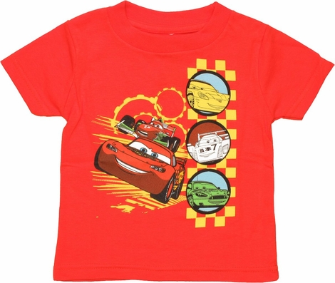 Cars Racing Circles Infant T Shirt