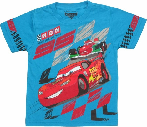 Cars RSN Sleeve Print Toddler T Shirt