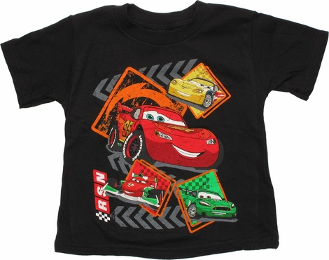 Cars RSN Track Four Cars Toddler T-Shirt
