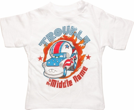 Cars Trouble is My Middle Name Toddler T-Shirt