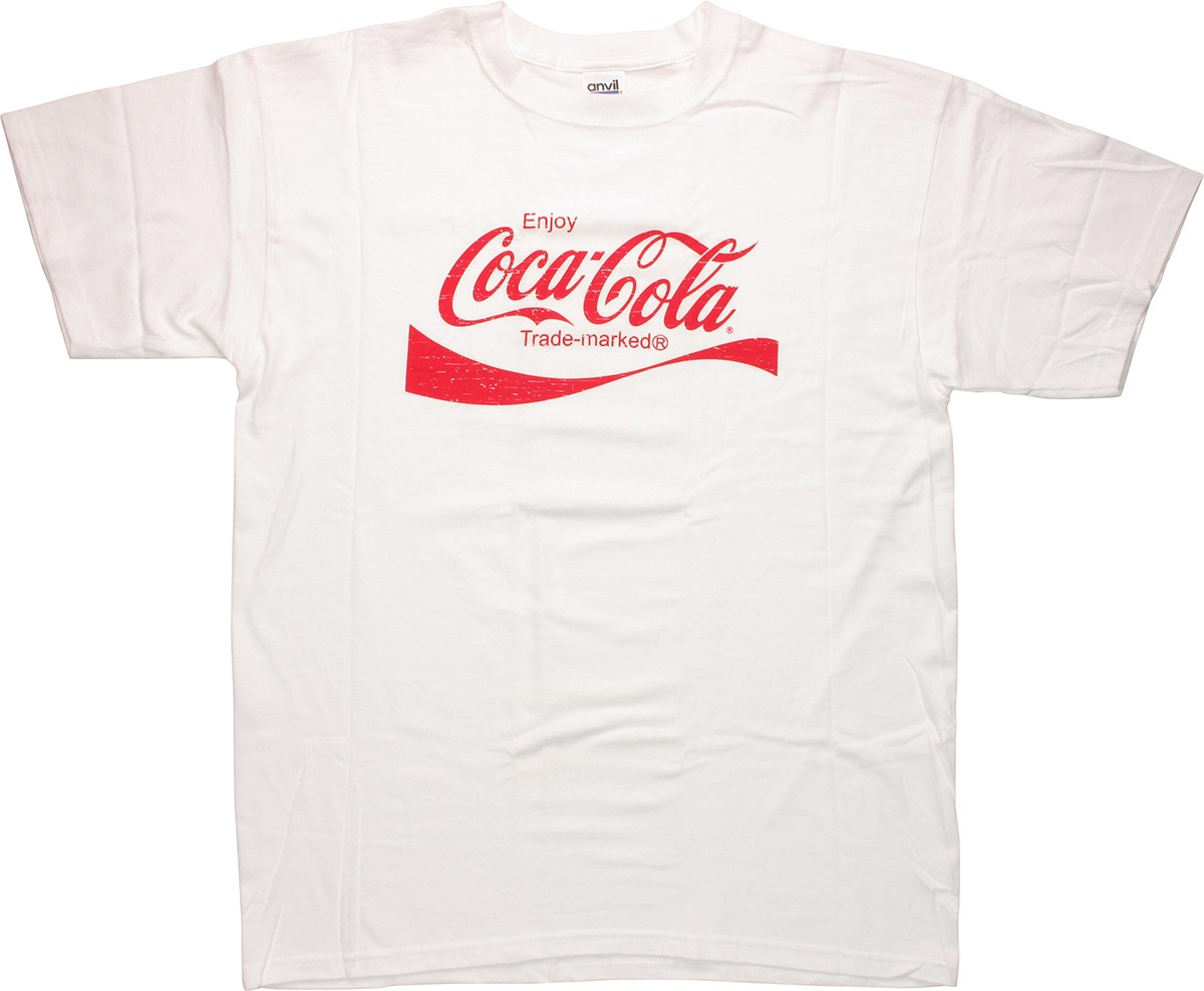 coca cola logo t shirt. Black Bedroom Furniture Sets. Home Design Ideas