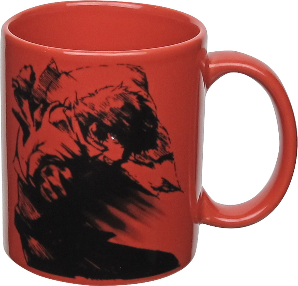 cowboy bebop spike spiegel sketch red mug. Black Bedroom Furniture Sets. Home Design Ideas