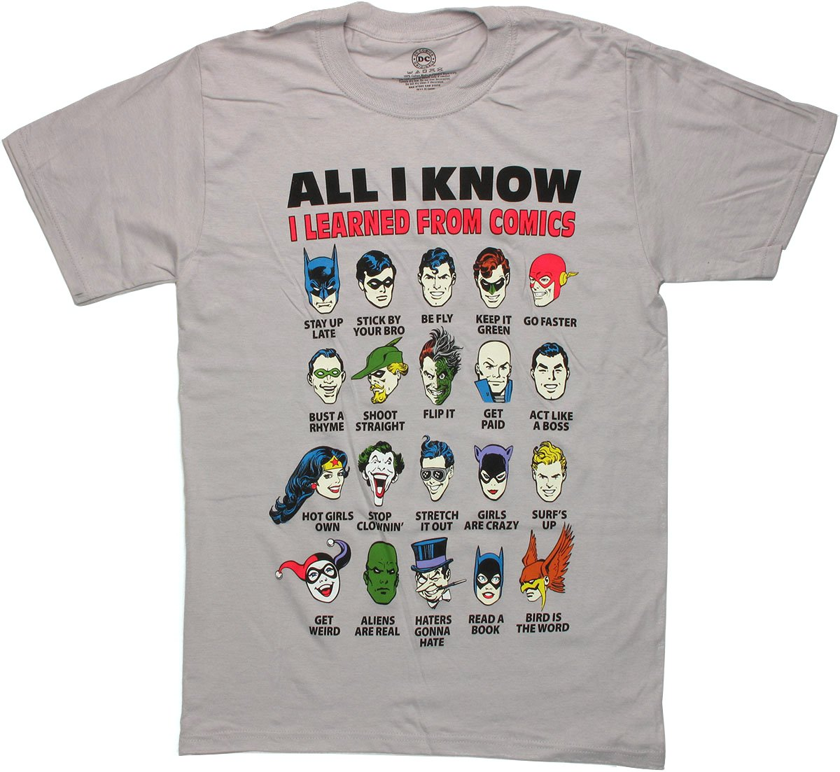 dc comics learned t shirt