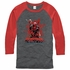 Deadpool Arms Cross Splat Raglan T-Shirt