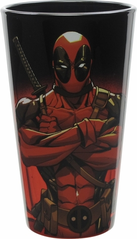 Deadpool Arms Crossed Stance Pint Glass
