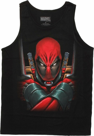Deadpool Arms Crossed Tank Top