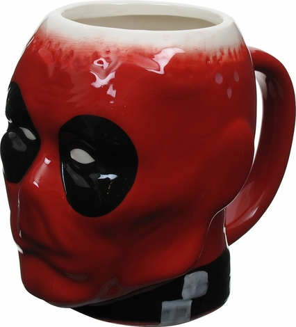 Deadpool Crazy Head Sculpted Mug