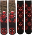 Deadpool Dye and Knit 2 Pack Crew Socks Set