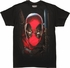 Deadpool Face Mesh Outline T-Shirt