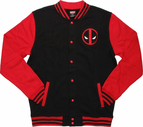 Deadpool Letterman Snap Jacket